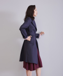 어헤이트() MACKINTOSH BI-COLOR COAT DARK NAVY-SKY BLUE