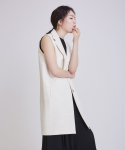 어헤이트(AHEIT) NATURAL LINEN IVORY VEST