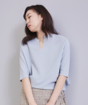 어헤이트(AHEIT) LOOSE FIT COTTON RAYON PULL OVER SLATE BLUE