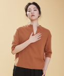 어헤이트(AHEIT) LOOSE FIT COTTON RAYON PULL OVER CARAMEL