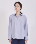 어헤이트(AHEIT) DETACHABLE COLLAR STRIPED COTTON SHIRT