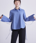 어헤이트(AHEIT) SIDE OPEN COTTON SHIRT SKY BLUE