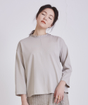 어헤이트(AHEIT) LOOSE FIT COTTON JERSEY TOP KHAKI BEIGE