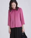 어헤이트(AHEIT) SILK BLOUSE WITH SIDE ZIP PINK