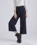 어헤이트(AHEIT) HIGH WAIST FLARED DARK NAVY TROUSERS