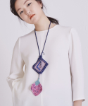 어헤이트(AHEIT) CROCHETED NECKLACE PINK