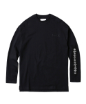 인사일런스(INSILENCE) Patched Long Sleeve Tee (Black)
