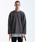 인사일런스(INSILENCE) Heavy Single Strap Pullover (Charcole)