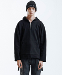 인사일런스(INSILENCE) Heavy Single Strap Hoodie (Black)