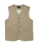 유니폼브릿지(UNIFORM BRIDGE) 17ss HBT hunting vest beige