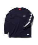 크리틱() RACING STRIPE LONGSLEEVES (NAVY)_CTOEPRL01MN0