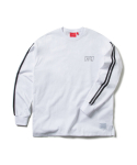 크리틱() RACING STRIPE LONGSLEEVES (WHITE)_CTOEPRL01MC2
