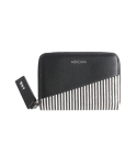메케나(MEKENNA) STRIPE card wallet [BLACK]