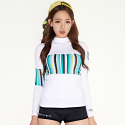 슈퍼링크(SUPERINC) VELLY-A RASH(WHT/B.STRIPE)