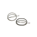 오뜨르 뒤 몽드(AUTOUR DU MONDE) SILVER ROUND METAL HAIRPIN (TWIST/SIMPLE)