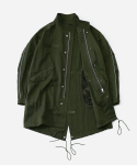 리타(LEATA) Reflective fishtail parka olive