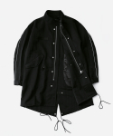 리타(LEATA) Reflective fishtail parka black