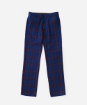 리타(LEATA) Tartan check slacks pants blue