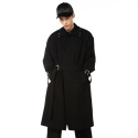 제너럴 아이디어(GENERAL IDEA) S7a02001 - Eyelet Coat [Black]