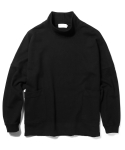 라이풀() HALF NECK OVER POCKET SWEATSHIRT black