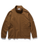 라이풀() HALF NECK OVER POCKET SWEATSHIRT camel