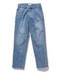 라이풀() ONE TUCK DENIM PANTS washed blue
