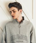 필루미네이트(FILLUMINATE) UNISEX Ring Point Half Zip Up-GREY