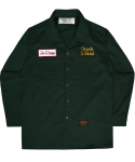 언더에어() G.B.U Work Shirts - Deep Green