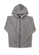 롤로(LOLO) ZIPPER HOODIE (HEATHER GREY)