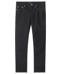 모디파이드(MODIFIED) M#1237 black cutted crop jeans