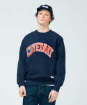 커버낫(COVERNAT) HEAVY ARCH LOGO CREWNECK NAVY