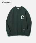 커버낫(COVERNAT) C LOGO CREWNECK GREEN