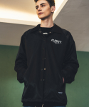 필루미네이트() UNISEX Bent Coach Jacket-BLACK