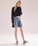 노앙(NOHANT) COTTON SWEATER SHORT NAVY