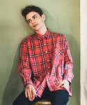 필루미네이트(FILLUMINATE) UNISEX Fresh Check shirt-PINK