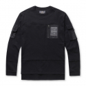 스톤페더(STONEFEATHER) [STONEFEATHER] FRENCH TERRY SWEATSHIRT WITH POCKET DETAIL_FNTBM17009BKX