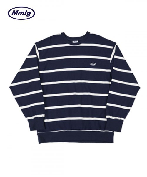 팔칠엠엠서울(87MM_SEOUL) [Mmlg] MMLG STRIPE SWEAT (NAVY)