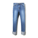 에센시(ESSENSI) [ESSENSI STUDIO] ROLL UP MEDIUM WASHED JEANS (ES1HSFD140A)