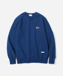 커버낫(COVERNAT) SIGN LOGO CREWNECK BLUE