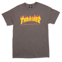 THRASHER FLAME TEE (CHARCOAL)