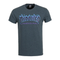 쓰레셔(THRASHER) THRASHER FLAME LOGO (DARK HEATHER)
