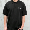 쓰레셔(THRASHER) THRASHER LOGO EMBROIDERED POLO (BLACK)