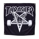 쓰레셔(THRASHER) THRASHER SKATE GOAT BANNER (CLOTH) (BLACK)