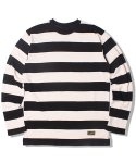 크래프티드(KRAFTED) BORDER STRIPE L-SLEEVE T-SHIRTS (BLACK)