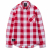 2017 GINGHAM CHECK BACK PRINT SHIRT (RED) [GS005F13RE]