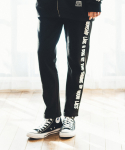 필루미네이트() UNISEX Side Printing Training Pants-BLACK