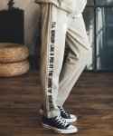 필루미네이트() UNISEX Side Printing Training Pants-GREY