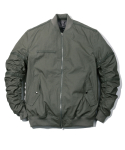 헤비스모커(HEAVYSMOKER) Shirring Ma-1 Jacket 카키