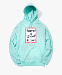 해브 어 굿 타임(HAVE A GOOD TIME) Frame Pullover Hoodie - Aqua