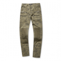 스톤페더(STONEFEATHER) [STONEFEATHER] WOVEN PANTS WITH  KNEE PATCH IN CAMO PRINT_FNPNM17006LBR